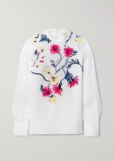 Chloé Embroidered Linen Blouse