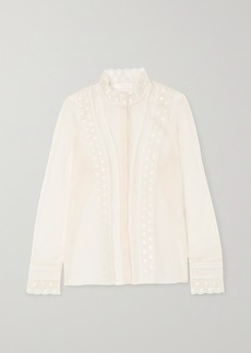 Chloé Embroidered Silk-organza Blouse