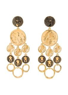 Chloé Emoji disk drop earrings