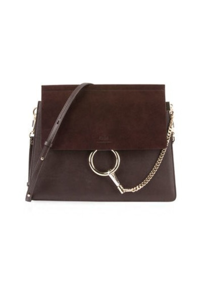 82e4ab86ad Chloé Faye Medium Leather   Suede Shoulder Bag Now  1