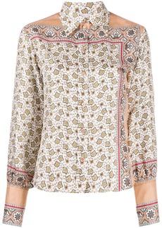 Chloé floral paisley print silk shirt