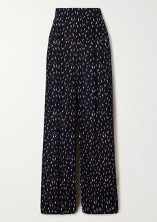 Chloé Floral-print Crepe De Chine Wide-leg Pants
