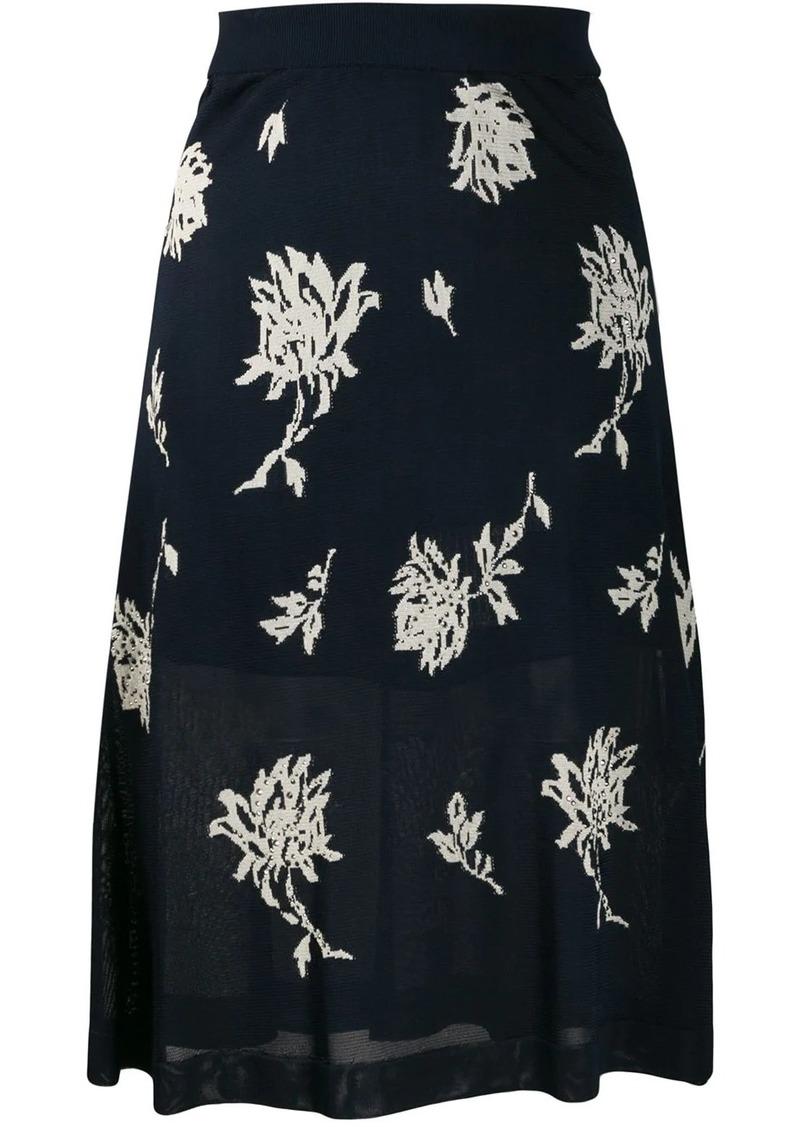 Chloé floral print layered skirt