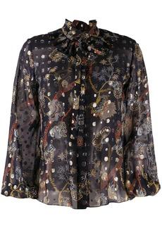 Chloé floral-print sheer blouse