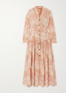 Chloé Floral-print Silk Crepe De Chine Maxi Dress