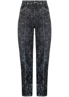 Chloé floral print straight-leg jeans