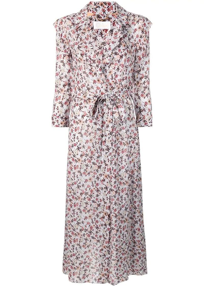 Chloé floral print wrap dress