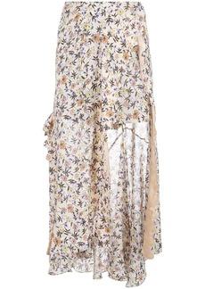 Chloé Floral scalloped skirt
