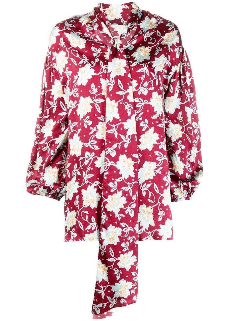 Chloé floral tie-neck blouse