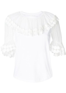 Chloé flounce collar top