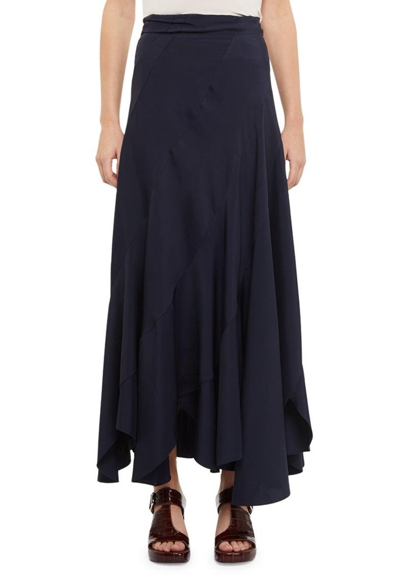 Chloé Fluid Twill Bias Cut Maxi Skirt