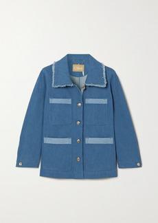 Chloé Frayed Two-tone Denim Jacket