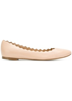 Chloé frilled craft ballerina shoes