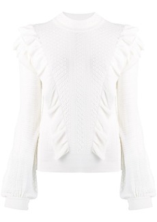 Chloé frilled knitted sweater