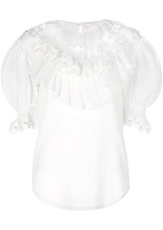 Chloé frilled medallion blouse