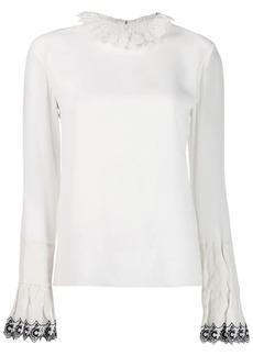 Chloé frilled trim blouse