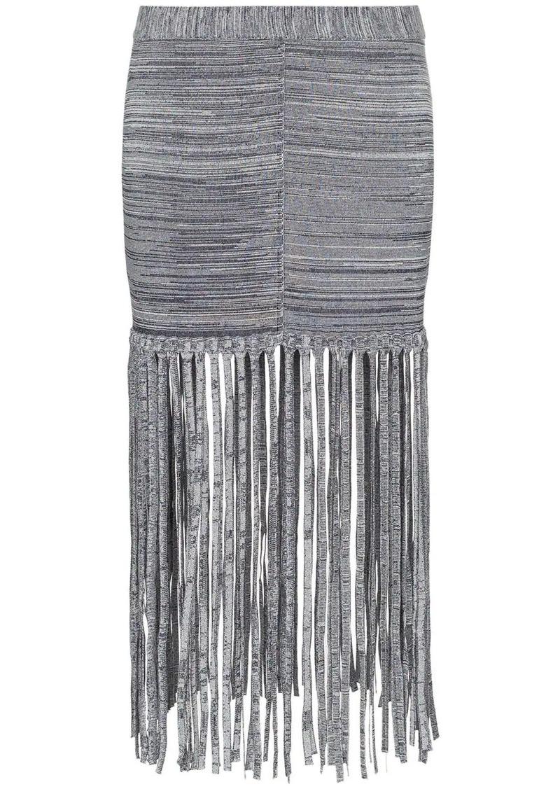 Chloé fringe detail skirt