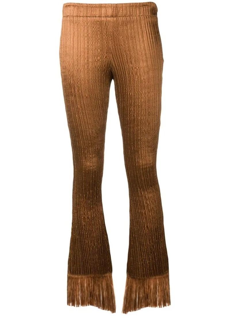 Chloé fringed textured velvet trousers