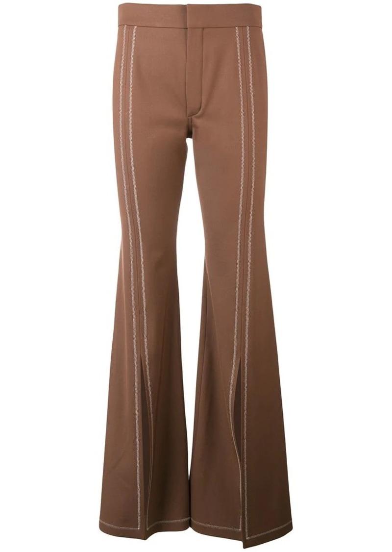 Chloé front slit trousers