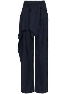 Chloé front tie flannel trousers
