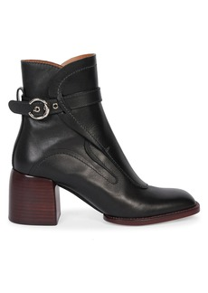 Chloé Gaile Harness Leather Ankle Boots