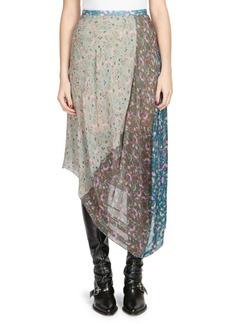 Chloé Garden-Print Georgette Midi Skirt