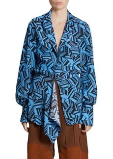Chloé Geometric Print Silk Blouse