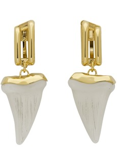 Chloé Gold & Off-White Tooth Earrings
