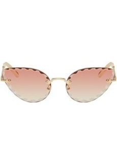 Chloé Gold & Pink Rosie Sunglasses