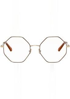 Chloé Gold & Tortoiseshell Palma Glasses