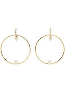 Chloé Gold Darcey Pearl Hoop Earrings