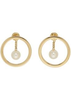 Chloé Gold Pearl Darcey Hoop Earrings