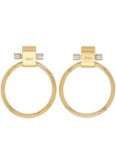 Chloé Gold Reese Hoop Earrings