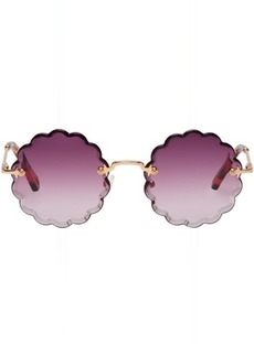Chloé Gold Small Rosie Sunglasses