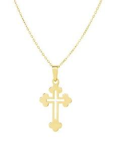 Chloé Gold Vermeil Open Cross Necklace