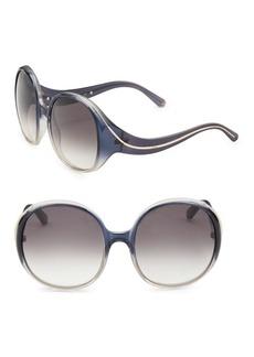Chloé Gradient 57MM Oval Sunglasses