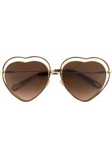 Chloé gradient heart sunglasses