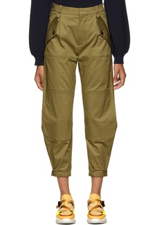 Chloé Green Knee Pad Trousers