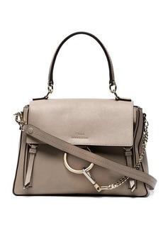 Chloé Grey Faye Day Medium Leather Shoulder Bag