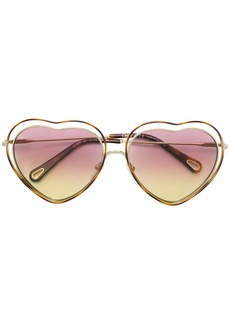 Chloé heart shaped sunglasses