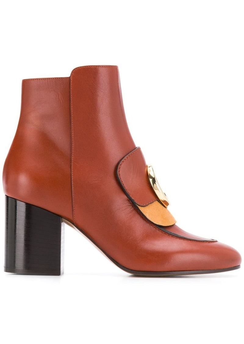 Chloé heeled C-logo boots