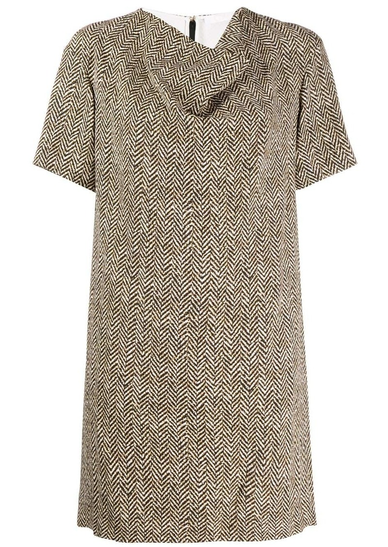 Chloé herringbone draped dress