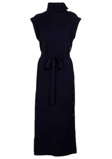 Chloé High-neck wool and cashmere midi dress