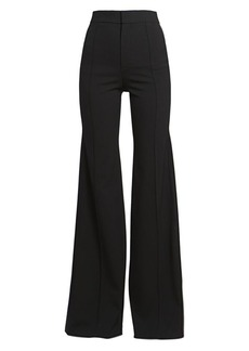 Chloé High Waist Flared Wool Pants
