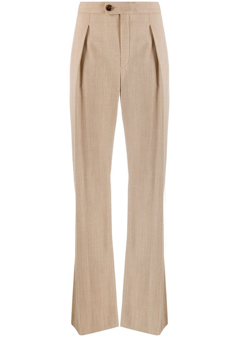 Chloé high waist front pleated trousers