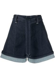 Chloé high waisted denim shorts