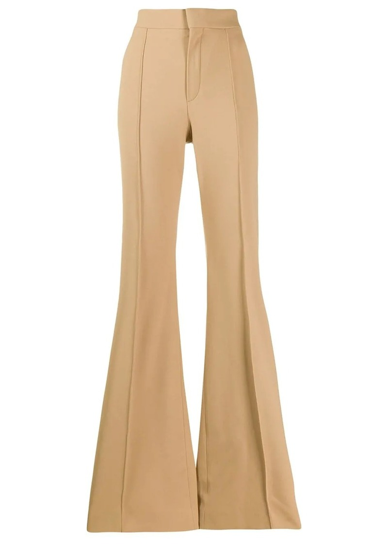 Chloé high-waisted flared trousers