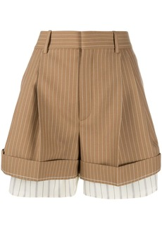 Chloé high-waisted pinstriped shorts