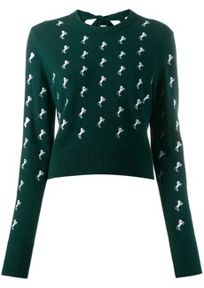 Chloé horse embroidered jumper