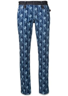 Chloé horse printed slim-fit trousers